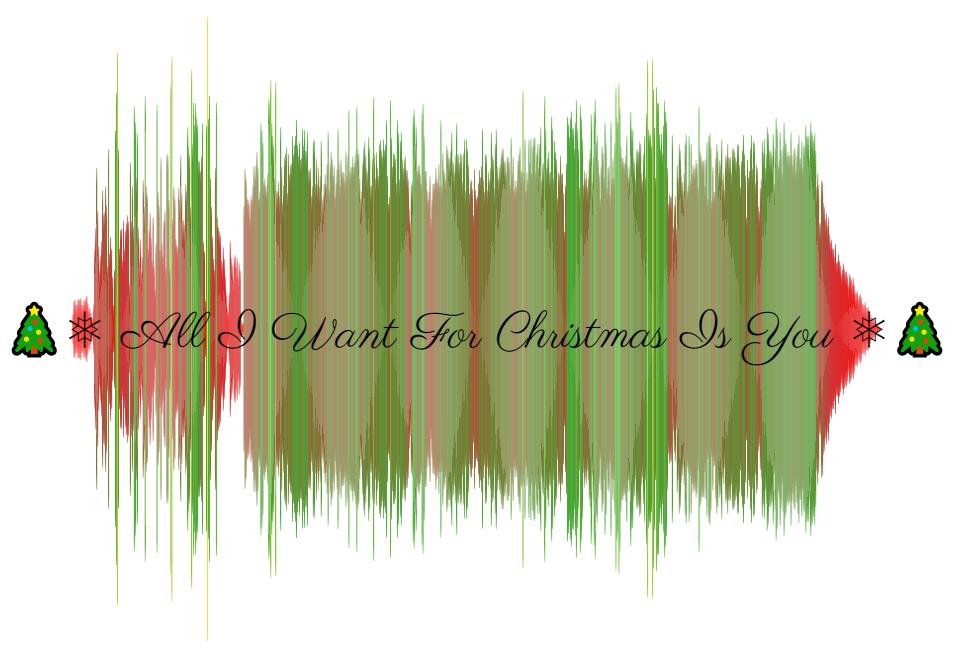 Christmas 2019 Soundviz Schallwellen