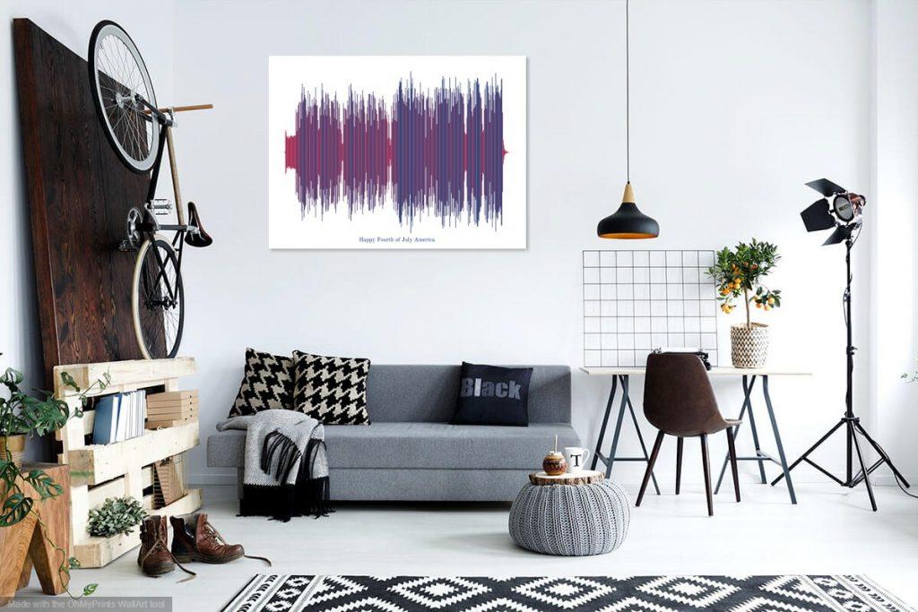 künstlerische Schallwelle